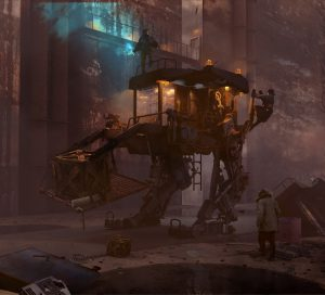 Old cargo bot from forgotten days اثر Ryan Geeves